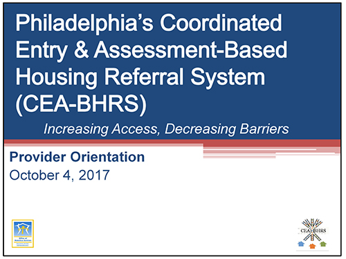 Cea bhrs office of homeless services cea bhrs provider orientation malvernweather Choice Image